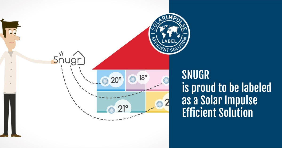 Snugr has been awarded the Solar Impulse Efficient Solution label